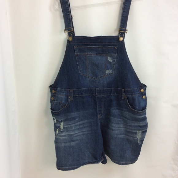 4277e2f539a Lane Bryant Pants - Size 22 Bib Overalls Distressed New Shortalls
